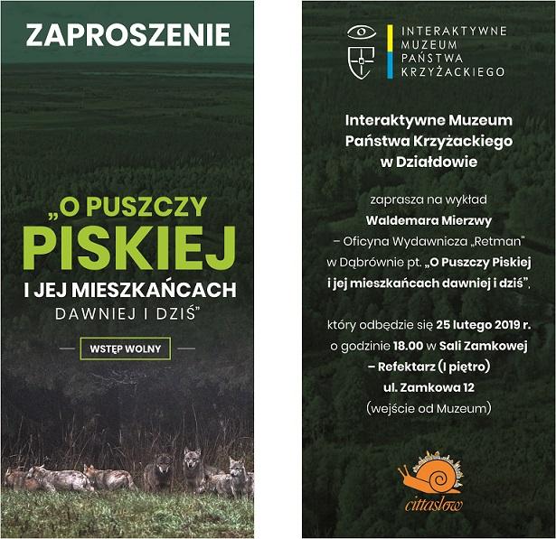 IMPK - O Puszczy Piskiej i jej mieszkańcach dawniej i dziś (Zaproszenie)